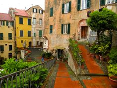 Visit some Italian Riviera towns - Old part of town in Porto Maurizio in Imperia.