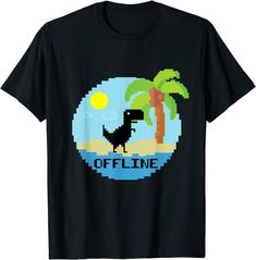 Funny offline pixel dino retro gamer vacation T-shirt: Amazon.de: Bekleidung Amazon T Shirt, Gamer Humor, Tee T Shirt, Retro Gamer, Pixel Art, Vacation, Cool Stuff, Funny, Pop Art