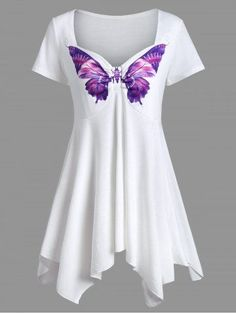 GET $50 NOW | Join RoseGal: Get YOUR $50 NOW!http://m.rosegal.com/t-shirts/sweetheart-neck-asymmetrical-butterfly-print-1155663.html?seid=7000345rg1155663
