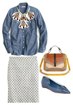 """""""Untitled #105"""" by llsdenver on Polyvore featuring Delman, J.Crew and Tory Burch"""