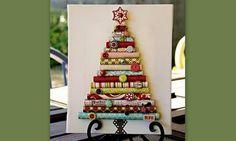 Φτιάξτε Χριστουγεννιάτικο δέντρο για την εξώπορτα σας  από χαρτί περιτυλίγματος