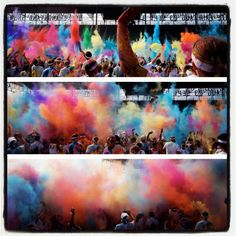 Color Cloud formation in MN!    #TheColorRun #PaintRace