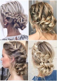 : #wedding hair boho #braid wedding hair #wedding hair vine #wedding hair with flower #wedding hair to side #wedding hair pin #wedding hair styles for medium hair length #wedding hair for guests Long Hair Wedding Updos, Winter Wedding Hair, Beach Wedding Hair, Wedding Hair And Makeup, Chignon Wedding, Bridal Hair Updo Loose, Bridesmaid Hair Bun, Fall Wedding Hairstyles, Bridesmaid Flowers