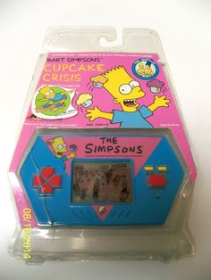 """Vintage Bart Simpson Hand Held Video Game by Acclaim 1989 New """"Cupcake Crisis"""" Handheld Video Games, Hand Games, Vintage Videos, Bart Simpson, Holding Hands, Cupcake, Hold On, Nintendo, The Past"""