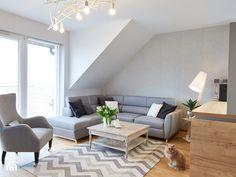 przytulne mieszkanie M3 - Średni salon z tarasem / balkonem, styl nowoczesny - zdjęcie od Martyna Midel projekty wnętrz