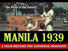 One year before the Japanese invasion, last glimpse the grandeur of Manila that will never ever be retrieved to it's former glory, let's just relive the past. Pinoy, Manila, Philippines, The Past, Japanese, Let It Be, Videos, Youtube, Japanese Language