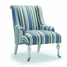 Our Naples Accent Chair is a Coastal Classic-with clean lines, mid-scale with shapely wings and turned legs.