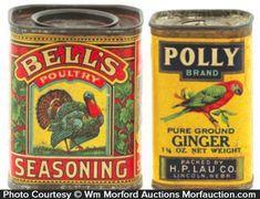 Antique Tins Values | Antique Advertising | Vintage Bird Spice Tins • Antique Advertising