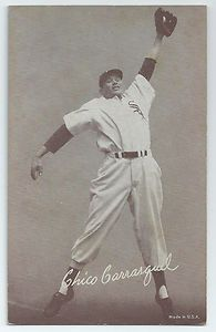 Chico Carrasquel, Chicago White Sox, 1947-66 Exhibits Card