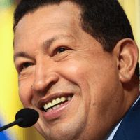 The Venezuelan President was named Honorary Guide in October 2004 for his support of those who denounce the horrific genocides and other crimes committed by Europeans during colonization of the Americas. Spurning the name of the traditional Columbus Day holiday in America, he declared it should henceforth be known as Indian Resistance Day in honor of the indigenous inhabitants.