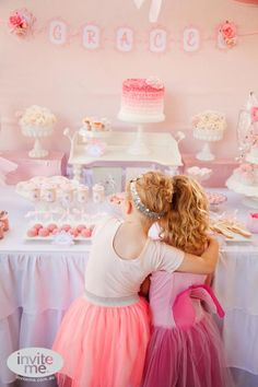 Ballerina themed birthday party via Kara's Party Ideas karaspartyideas.com #ballerina #ballet #party #ideas #girl