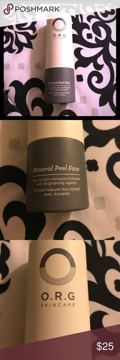 NWT * O.R.G Skincare Mineral Peel Face Exfoliant New In Original Packaging! Never Used! O.R.G SKINCARE Mineral Peel Face Natural Non-Abrasive Exfoliant With Brightening Agents! 2.0Fl Oz. Amazing product I just have duplicates! I ❤️ this stuff. O.R.G Skincare Makeup Face Primer