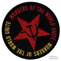 USSR COMMUNIST PATCH workers of the world unite Hammer Sickle embroidered iron-on symbol by SouvenirPatch on Etsy https://www.etsy.com/listing/195482661/ussr-communist-patch-workers-of-the