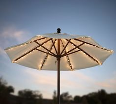 Add some string lights under your umbrella so you can have the late night summer talks with your friends and family that make summer nights worth it! http://www.flashingblinkylights.com/light-up-products/light-up-decorations/led-string-lights.html