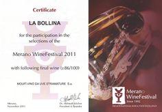 """merano-wine-festival Il Moufì', de LA BOLLINA , il vino """"da meditazione"""" ottenuto da uve stramature, premiato al Merano International Wine Festiva"""