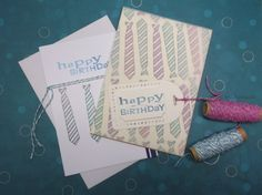 Masculine Tie Cards - Handmade by Talida #masculine #birthday #cards