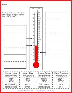 Teach your students all about temperature! Super Teacher Worksheets has resources for gauging temperature in Celsius and Fahrenheit.