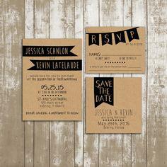 Wedding Invitation Suite DEPOSIT  Shabby Chic par SplashOfSilver