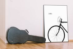Excited to share the latest addition to my #etsy shop: bike print, bicycle poster, cycling wall art, minimal wall decor, ride a bike digital, black and white printable art, contemporary decor