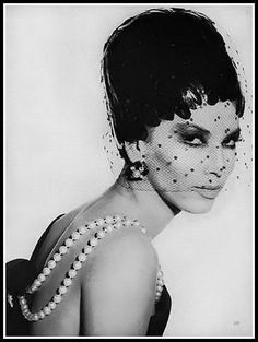 Victoire Doutreleau, model and muse for Dior and Yves Saint Laurent, photo by Irving Penn, Vogue, September 1960