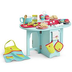 american girl doll furniture  baking table...