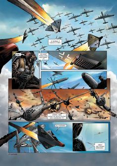 xenophone: story by Richard D. Nolane & art by Maza Another Xenophone TRUFAX submission to The Alt-Historian indicating that the field of currently acceptable subjects for comics in the USA is woefully limited compared to other nations. Military Diorama, Military Art, War Comics, Airplane Art, Alternate History, Retro Futuristic, Aviation Art, Luftwaffe, Military Aircraft