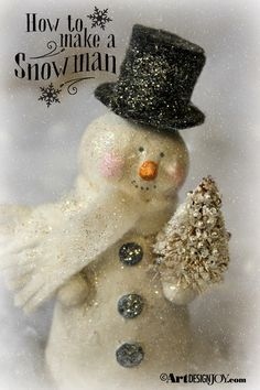 Easy to make snowman DIY project for Christmas at Art Design Joy.
