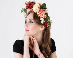 Weiße Blume Krone Blume Headpiece Leiter Kranz Bridal von MadamIren