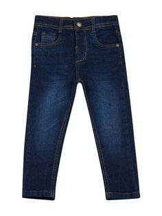 Blue Elastane Jeans