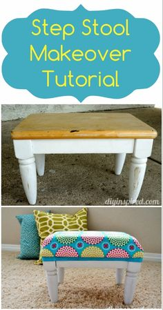 Step Stool Makeover Tutorial
