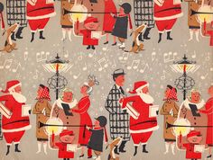 Vintage Vintage Christmas Gift Wrap More - 20 Fine Examples Of Beautiful Vintage Wrapping. Vintage Christmas Wrapping Paper, Vintage Christmas Images, Christmas Gift Wrapping, Christmas Paper, Retro Christmas, Christmas Love, Vintage Holiday, Christmas Gifts, Christmas Mantles