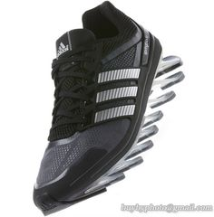 Men's Adidas Springblade 1 Running Shoes Black Silvery A  only US$88.00 - follow me to pick up couopons.