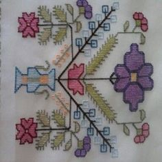 63 Likes, 2 Comments - Hurrem Cross Stitch Embroidery, Cross Stitch Patterns, Seed Packaging, Turkish Fashion, Bargello, Diy And Crafts, Crochet Necklace, Projects To Try, Kids Rugs