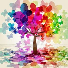 árvores coloridas - Pesquisa Google