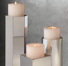 Kline Hexagonal Pillar Candle Holder