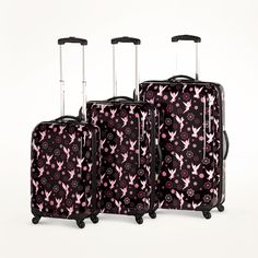 Disney Tinker Bell 3-Piece #Luggage Set made by Heys USA ($221.43) I really wanted this luggage!! Mickey Mouse Luggage, Disney Luggage, Cute Luggage, Best Luggage, 3 Piece Luggage Set, Luggage Sets, Disney Fairies, Tinkerbell, Apple Watch Accessories