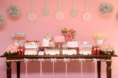 decoração chá de fraldas menina - Pesquisa Google