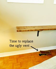 diy sofa shelf easiest solution for a common problem, diy, living room ideas, painted furniture, shelving ideas, woodworking projects, Now the couch sits in front of the vent instead of over it