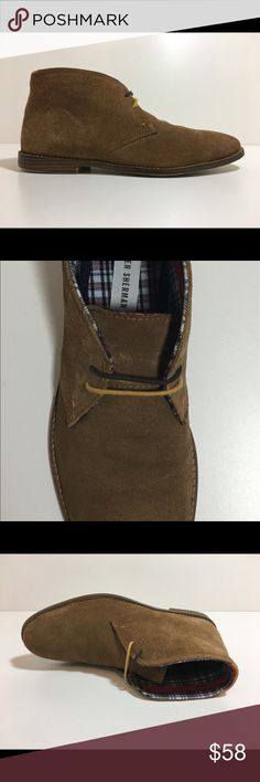 Mens Ben Sherman Suede Chukka Boot Gabe Shoe Brown Pre Owned: excellent condition with not many signs of wear. Upper is in great condition with no defects. Insoles are excellent with no prints nor odor. Outsoles show some signs of wear with minor imperfection on heel areas of both shoes (shown in photos).   US 8-8.5, UK 7.5, EUR 41.5   Gabe Tan Suede Chukka   BN400043-031 Men Ben Sherman Shoes Chukka Boots