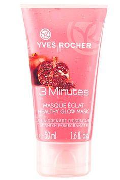 Rostro limpio, fresco y con luminosidad gracias a la Mascarilla 3 Minutos Granada de Yves Rocher. Tiene un agradable perfume y su envase es completamente reciclable. Su precio es de 5,90 euros.