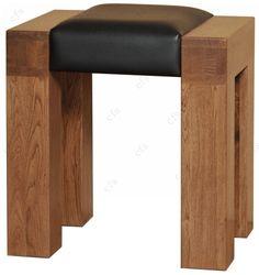 rustic+oak+furniture+design | Quercus Rustic Solid Oak Dressing Stool