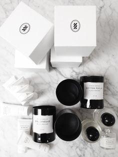 :: Byredo candles and parfum :: Doftljus: Biblioteque Parfym etc. Skincare Packaging, Beauty Packaging, Cosmetic Packaging, Brand Packaging, Packaging Design, Branding Design, Candle Packaging, Candle Labels, Gift Packaging