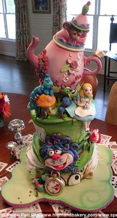 .Amazing cakes by Karen Portaleo of the Highland Bakery, Atlanta, Georgia