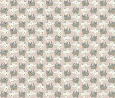 1 kitten, 2 kittens fabric by thalita_dol on Spoonflower - custom fabric