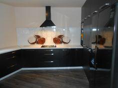Glass splashback #glass #splashback #kitchen