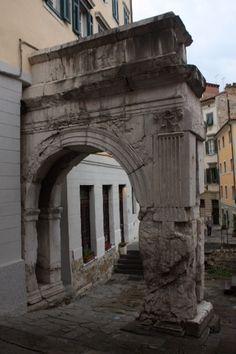 Roman ruins in Trieste, Italy