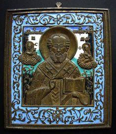 D65-119 - Никола Чудотворец, святитель (R1) - Образы святых XVII-XIX века - Каталог - Русское медное литье