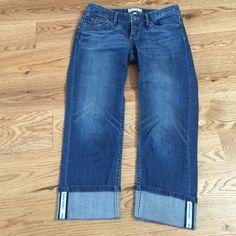 Banana Republic cropped jeans Stonewashed denim cropped jeans from Banana Republic. Perfect. Hardly worn. Banana Republic Jeans Ankle & Cropped