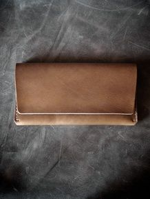 """Nathan"" brown handmade leather long wallet by Bas and Lokes Handmade Leather Wallet, Long Wallet, Brown Leather, How To Make, Accessories, Baggage, Phone, Bags, Handbags"