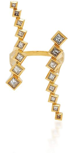 Margo Open Ring Large by Melissa Kaye Open Ring, Diamond Cluster Ring, Bracelets, Rings, Gold, Jewelry, Women, Fashion, Moda